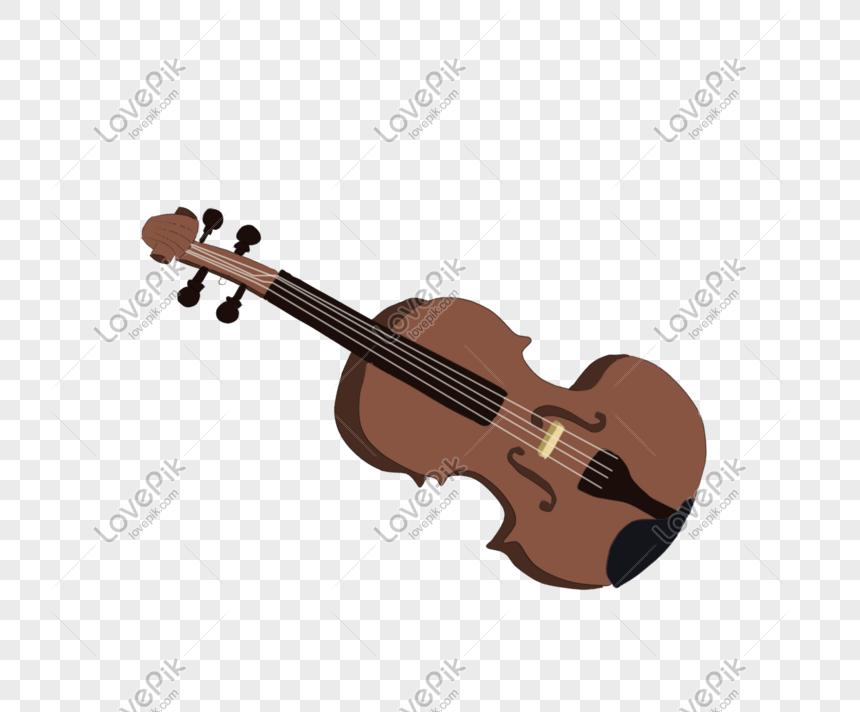 Violín De Instrumentos Musicales Minimalistas De Dibujos Animado