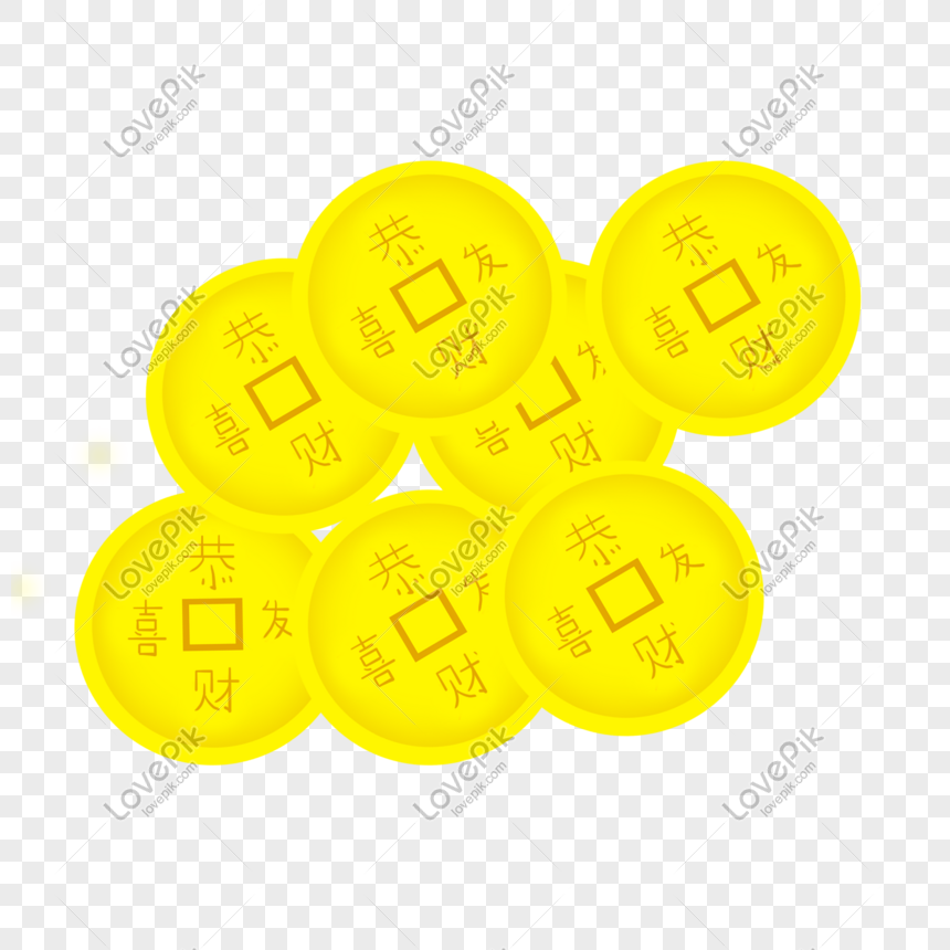 a lot of gold coins with pictures png