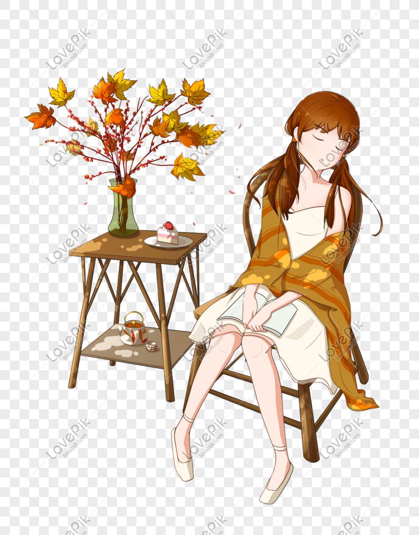 静かな女の子の午後の時間漫画イラストイメージ グラフィックス Id Prf画像フォーマットpsd Jp Lovepik Com