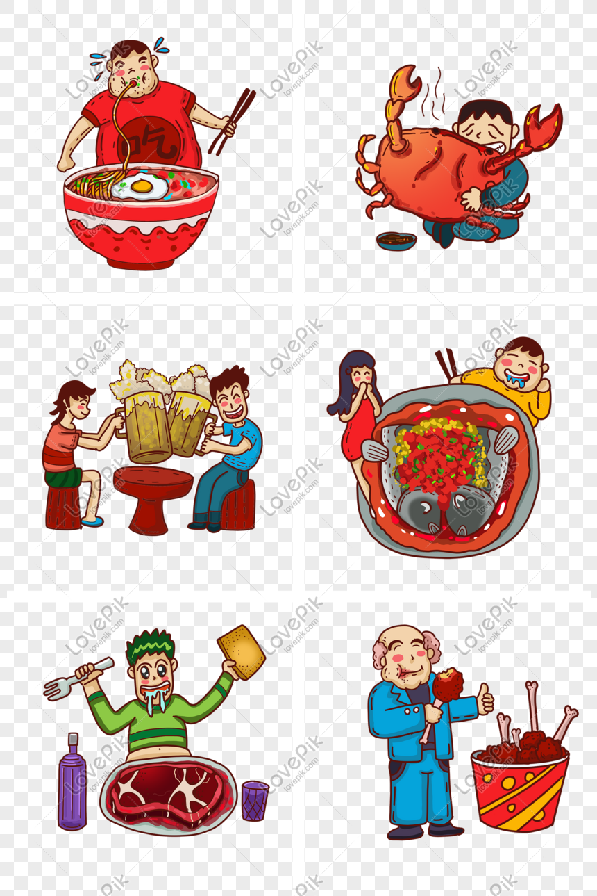 Makan Dan Makan Koleksi Kartun Animasi Makanan Cina Gambar Unduh