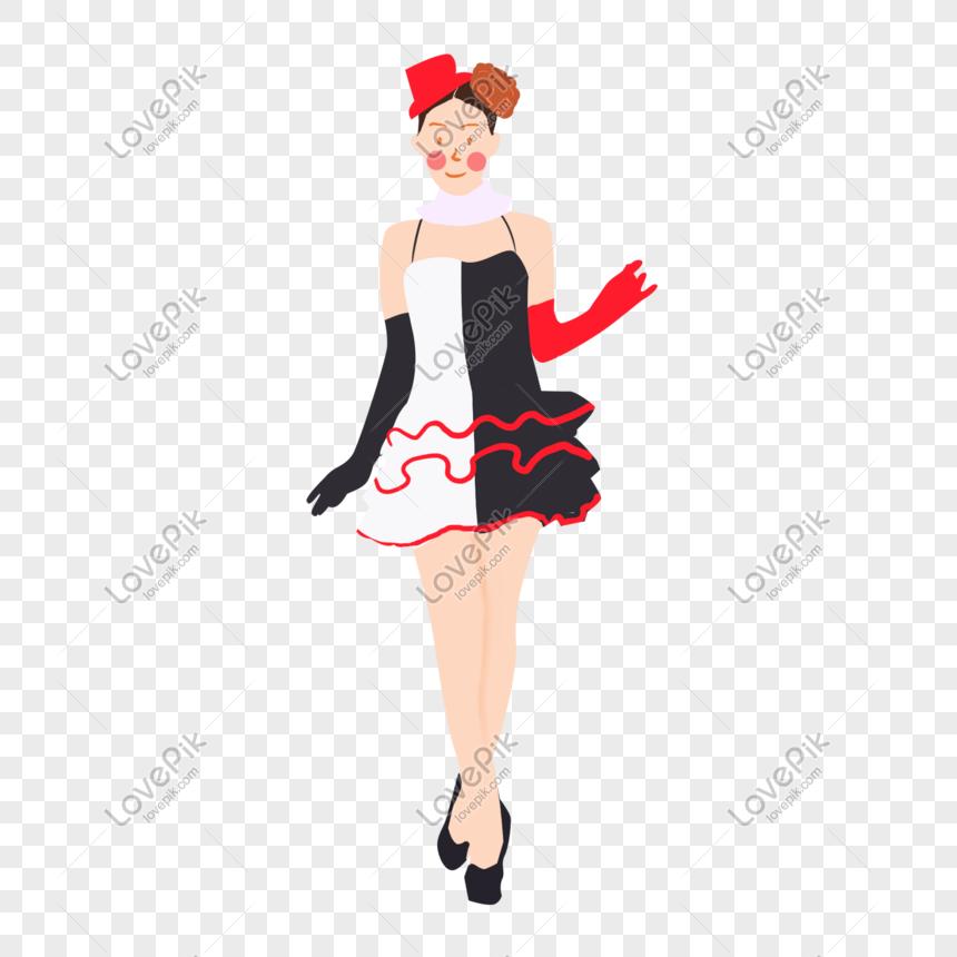 Halloween Mao Desenhada Bonitinho Bruxinha Personagem De Desenho