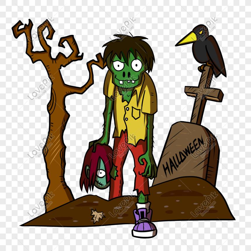 Dessin Halloween Zombie.Photo De Dessin Anime Halloween Zombie Zombie Png Fond Transparent Numero De L Image611289628 Format D Image Psd Fr Lovepik Com