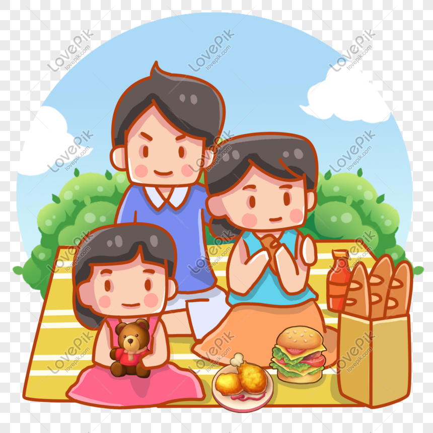 Cartoon Picnic Picnic Family Gathering Png Image Picture Free Download 611292258 Lovepik Com