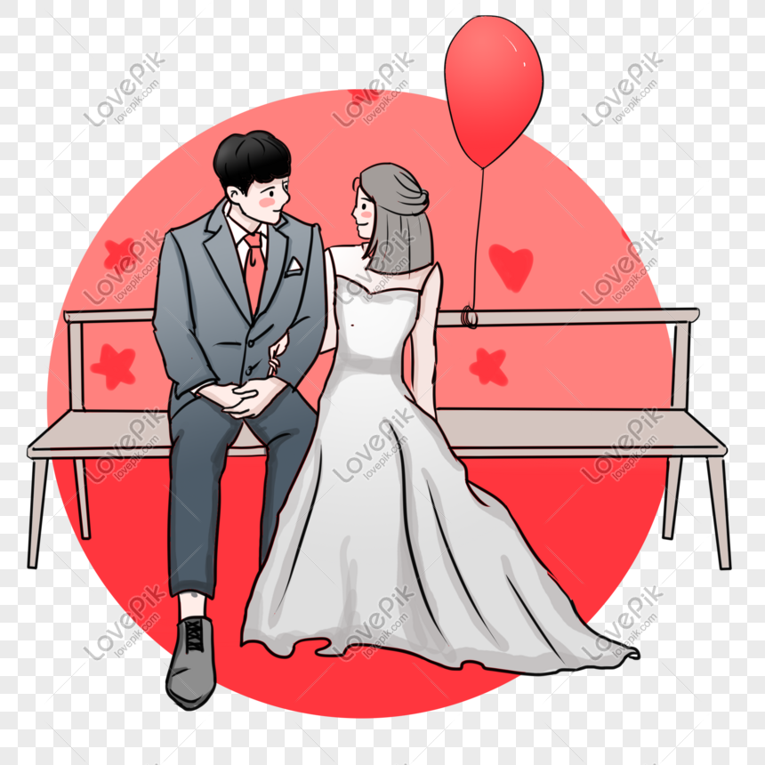 tanabata valentines day wedding red theme fashion illustration png