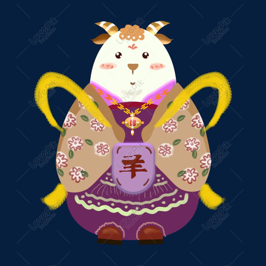 Kostum Kelas Ilustrator Angin Dua Belas Domba Zodiak Gambar Unduh