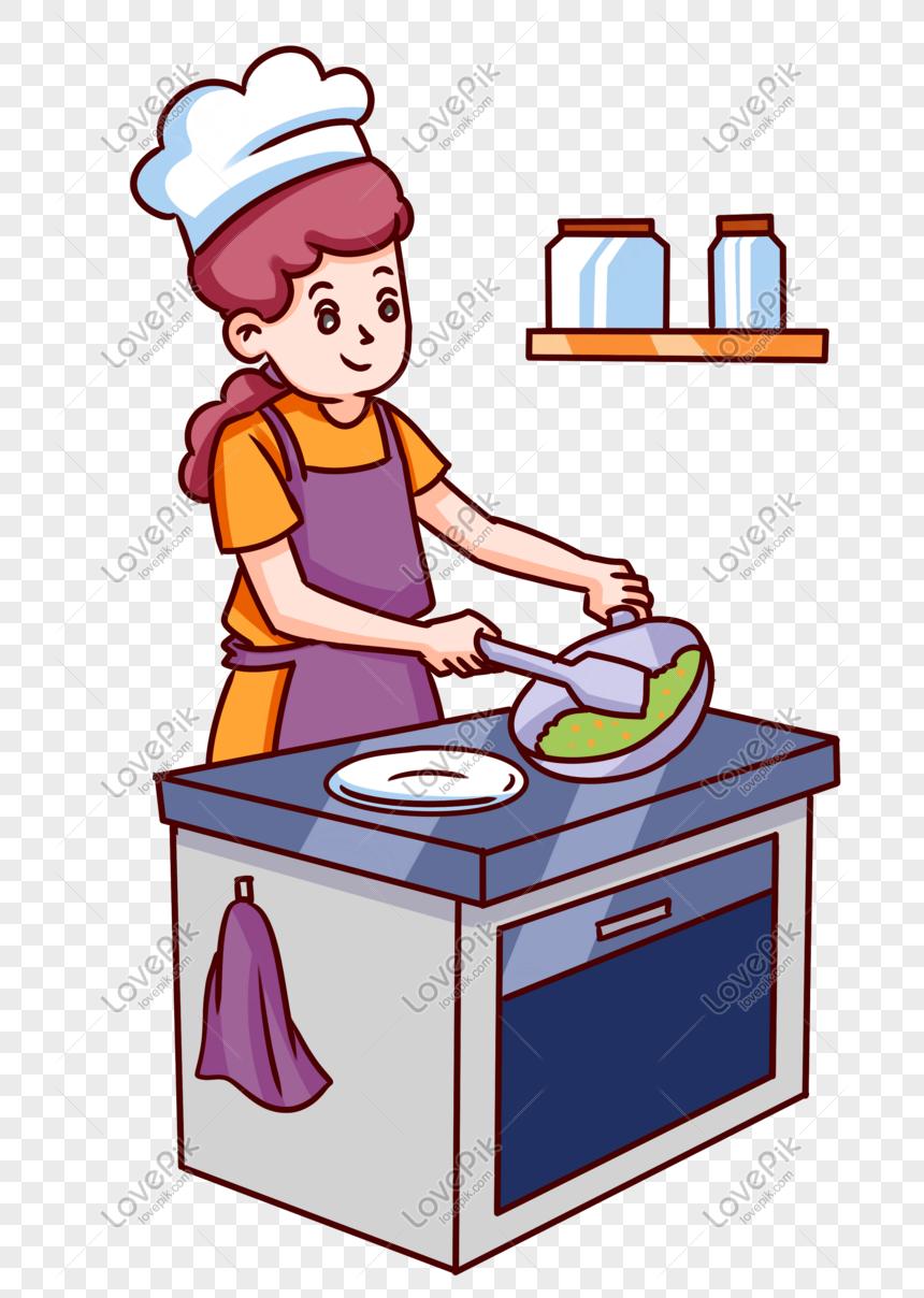 Chef Wanita Gourmet Gambar Unduh Gratis Imej