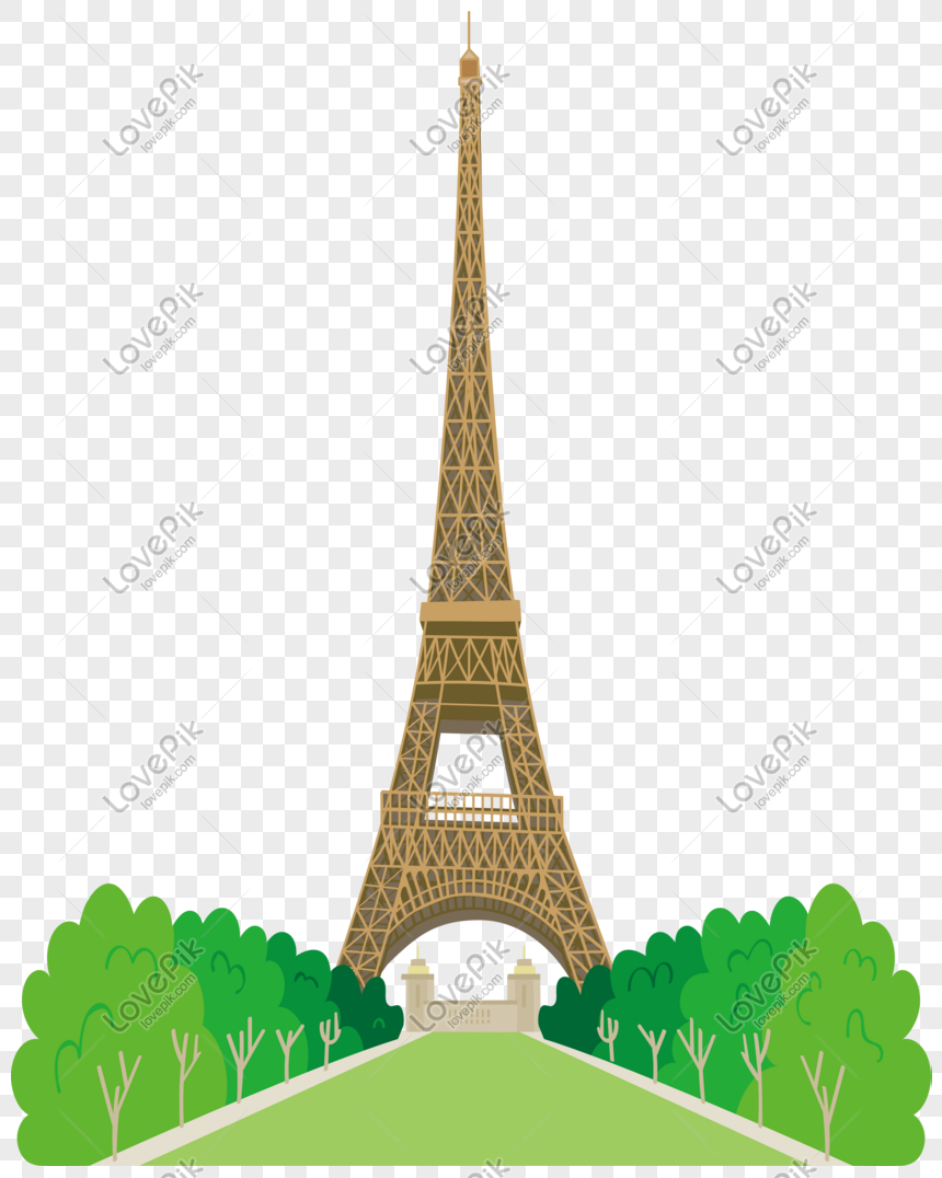 Cartoon Wind Paris Tower Vector Material Png Image Picture