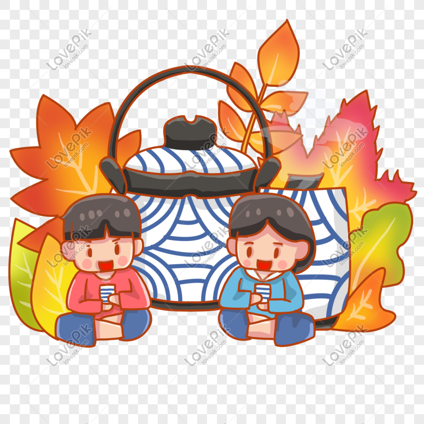 Autumn health stickers autumn hand painted png image_picture