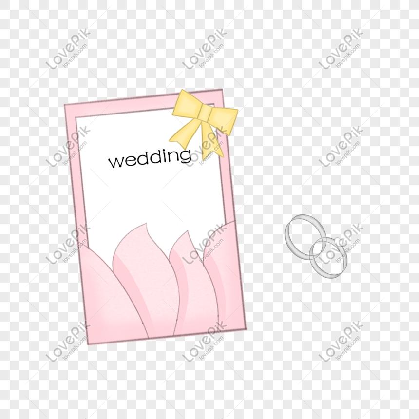 Kad Ucapan Perkahwinan Cincin Berlian Ilustrasi Gambar Unduh