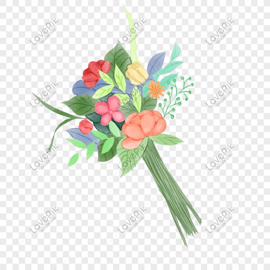 Buket Pernikahan Memegang Ilustrasi Bunga Png Grafik Gambar Unduh Gratis Lovepik