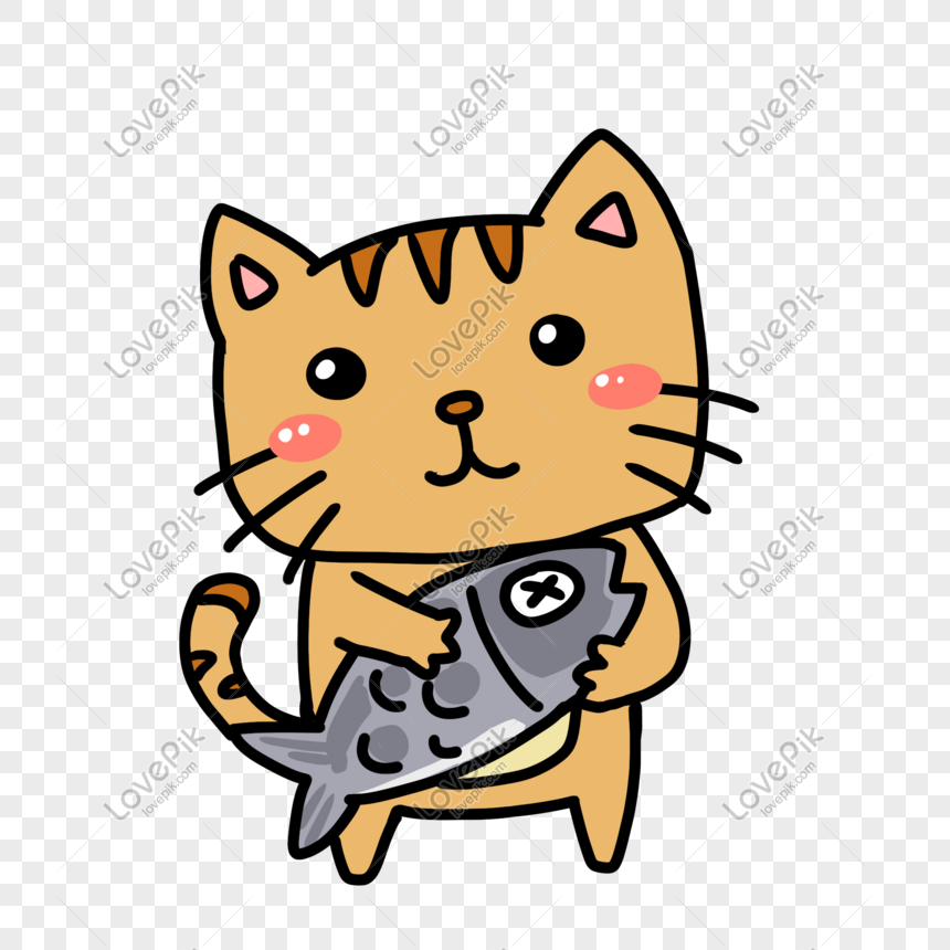 Download 93+  Gambar Kucing Kartun Sedang Makan Ikan Paling Keren HD