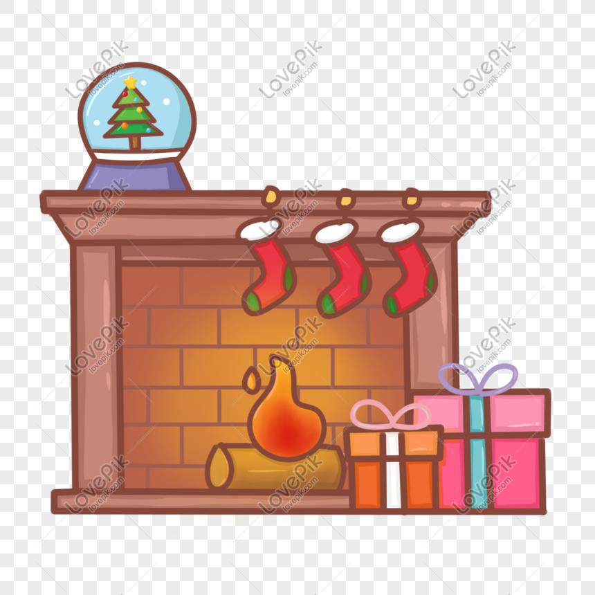 Dibujos Chimeneas De Navidad.Dibujado A Mano Dibujos Animados Navidad Chimenea