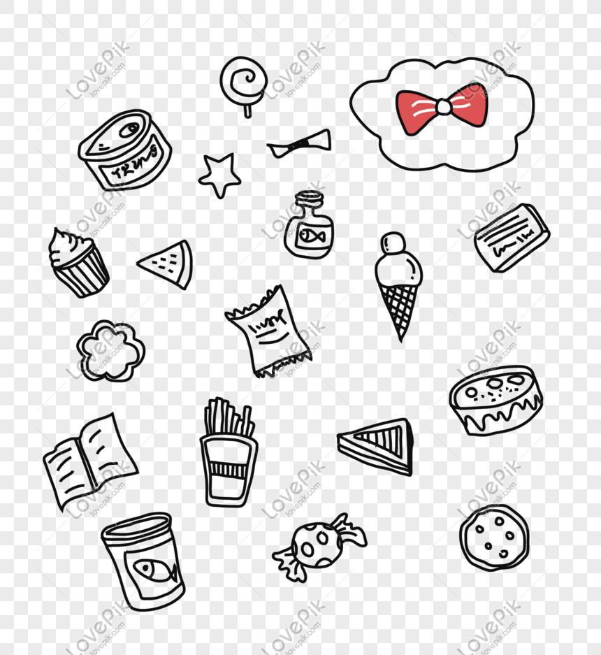 Gambar Garis Makanan Kartun Gambar Hitam Dan Putih Png Unduh Gra Png Grafik Gambar Unduh Gratis Lovepik
