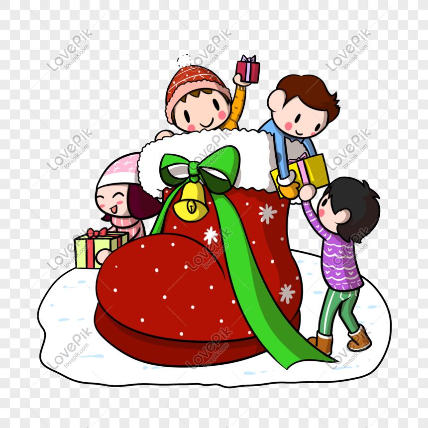 Dibujos De Navidad Regalos.Botas De Navidad De Dibujos Animados Regalos Para Ninos