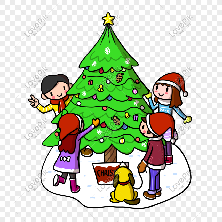 cartoon christmas christmas tree child png transparent bottom png image picture free download 611353327 lovepik com cartoon christmas christmas tree child