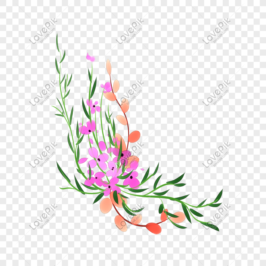 Gambar Ilustrasi Tanaman Bunga Warna Tanaman Bunga Dan Ilustrasi Tanaman Png Grafik Gambar Unduh