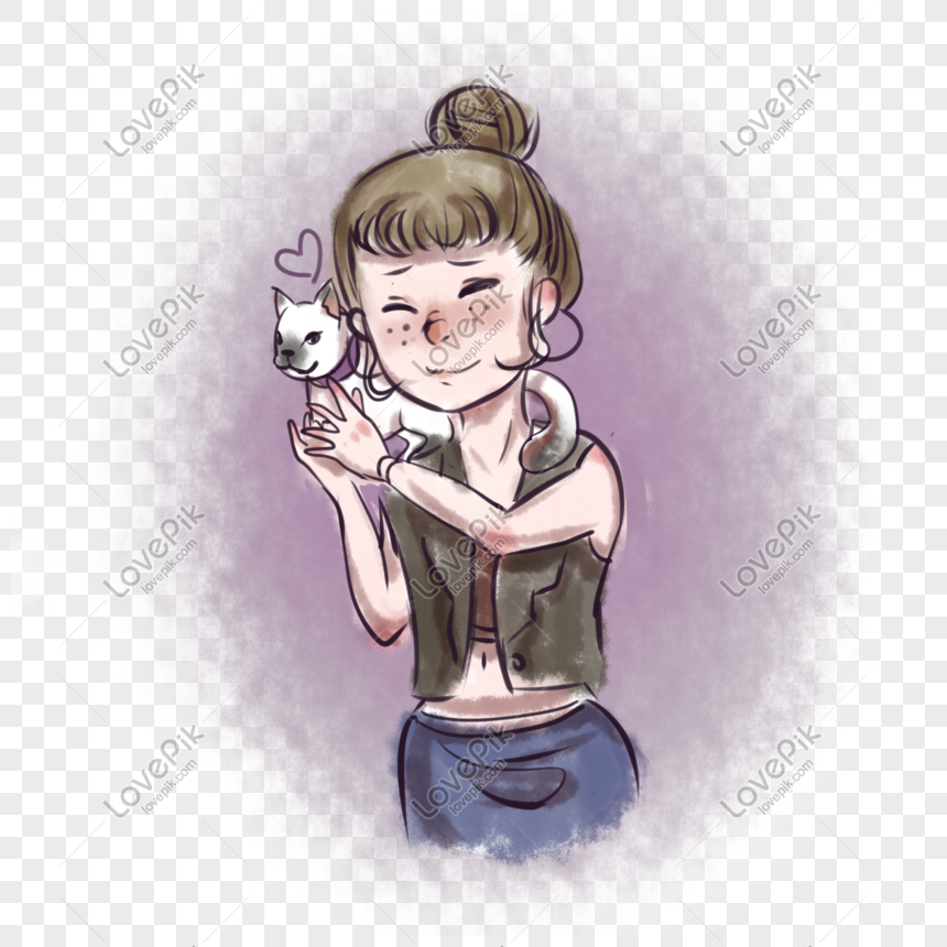 european and american girl cartoon illustration png