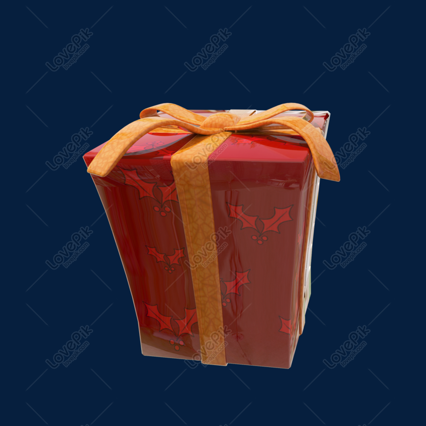 Christmas Gift Box Png.C4d Christmas Red Gift Box Png Image Picture Free Download