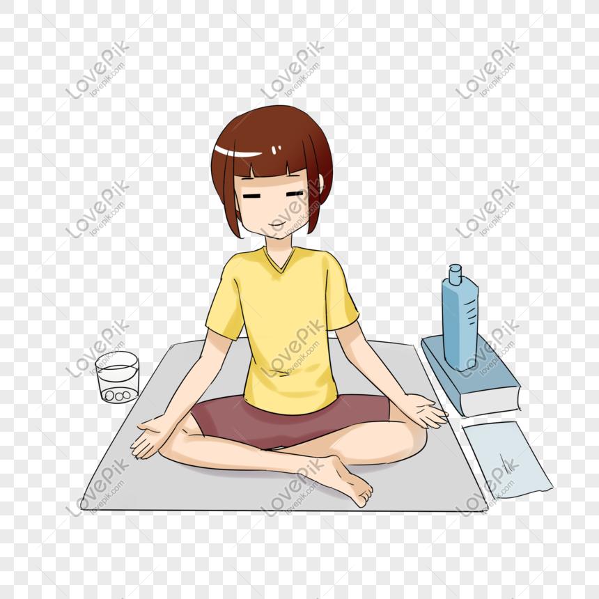 Yoga Body Meditation Cartoon Hand Drawn Png Image Picture Free Download 611391319 Lovepik Com