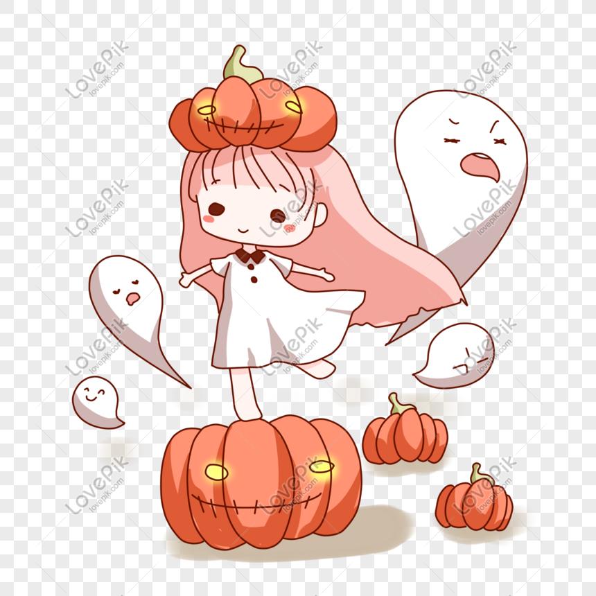 Mao De Desenhos Animados De Princesa De Halloween Desenhada Imagem