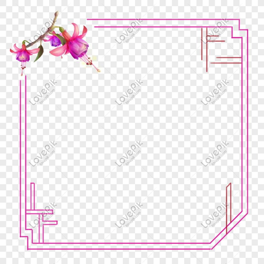 Flores Fucsia Frontera Flores Vintage Rosa Púrpura Gratis