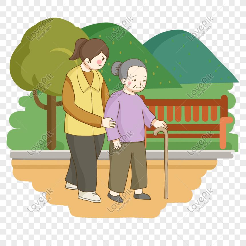 Khidmat Masyarakat Sukarelawan Untuk Membantu Nenek Berjalan