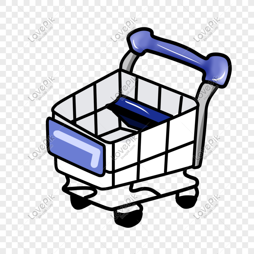 Cartoon Hand Drawn Shopping Cart Trolley Png Image Picture Free Download 611392405 Lovepik Com