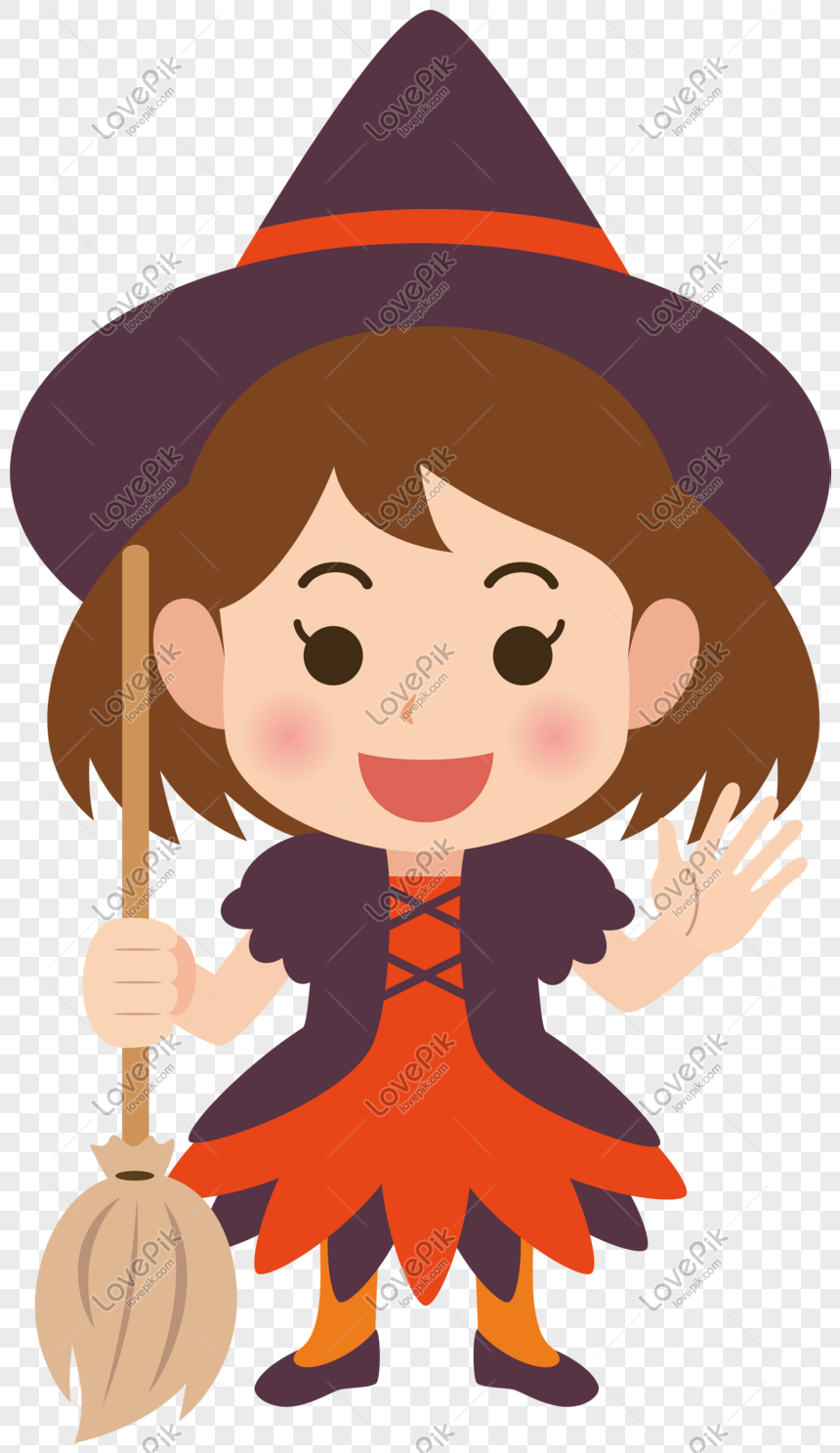 Halloween vector character witch png image_picture free