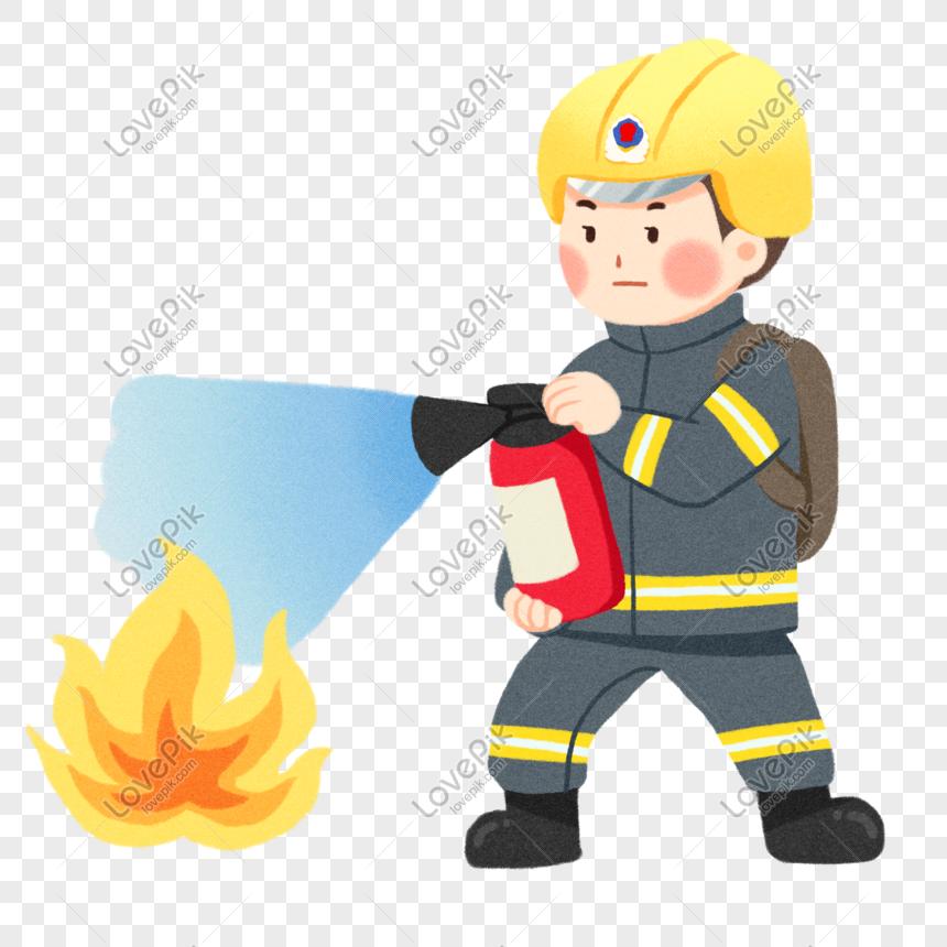 Lovepik صورة Psd 611396728 Id الرسومات بحث صور ومن ناحية إطفائية رجل الإطفاء التوضيح