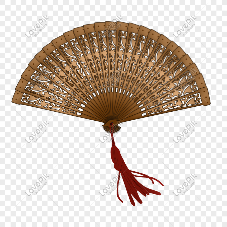 Hand painted chinese style classical sandalwood fan
