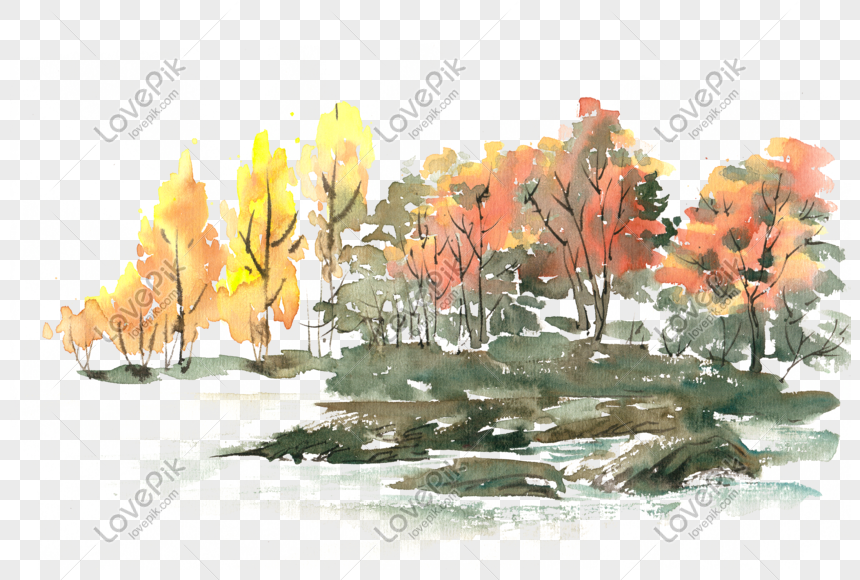 autumn forest watercolor png free material png image picture free download 611414585 lovepik com autumn forest watercolor png free