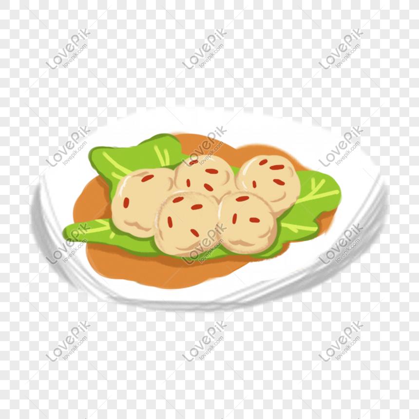 Kartun Makanan Bola Tangan Ditarik Makanan Gambar Unduh Gratis