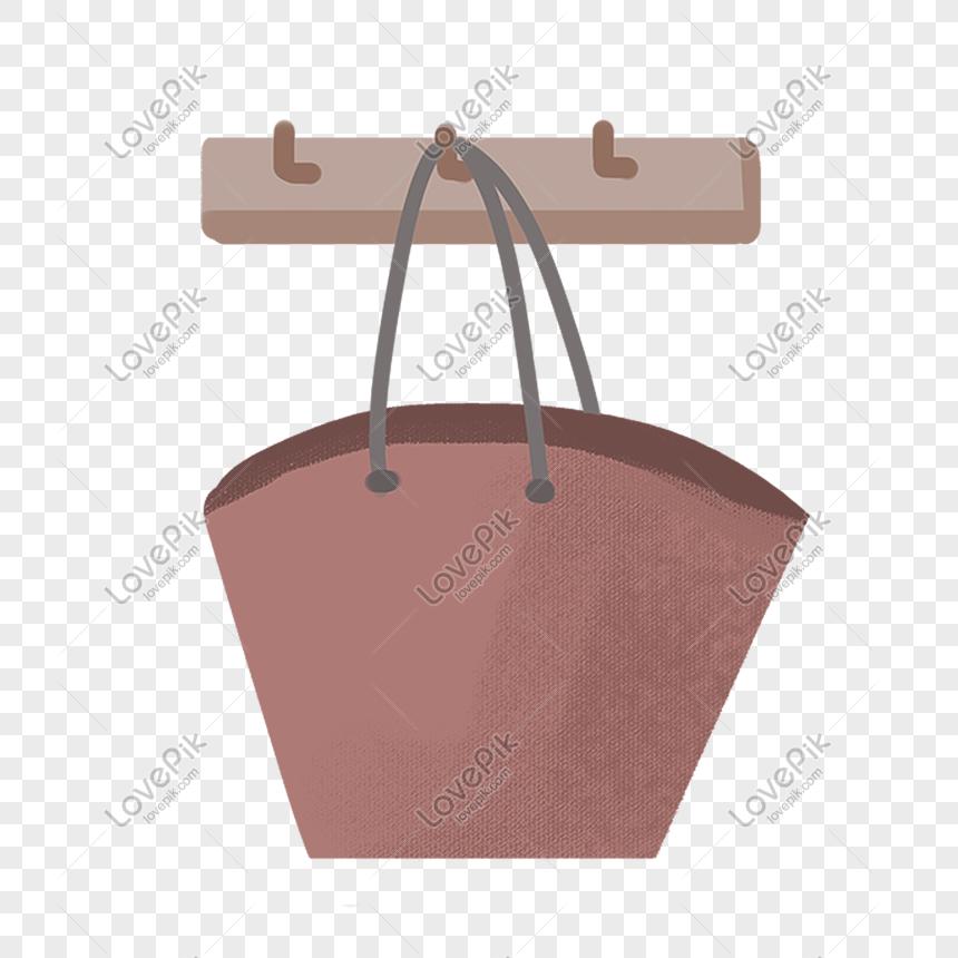 Bolso Marrón Ilustración De Dibujos Animados Ilustración De