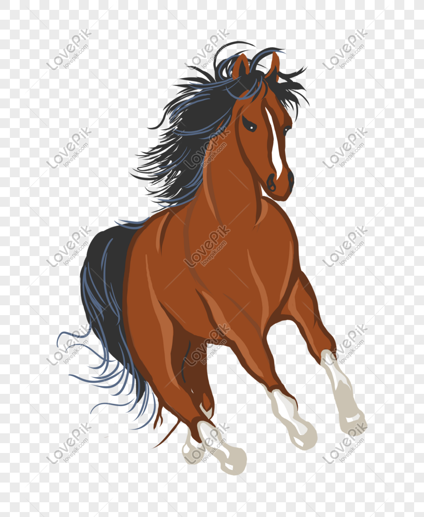 Hand Drawn Cartoon Brown Cute Handsome Horse Illustration Png Image Picture Free Download 611436928 Lovepik Com