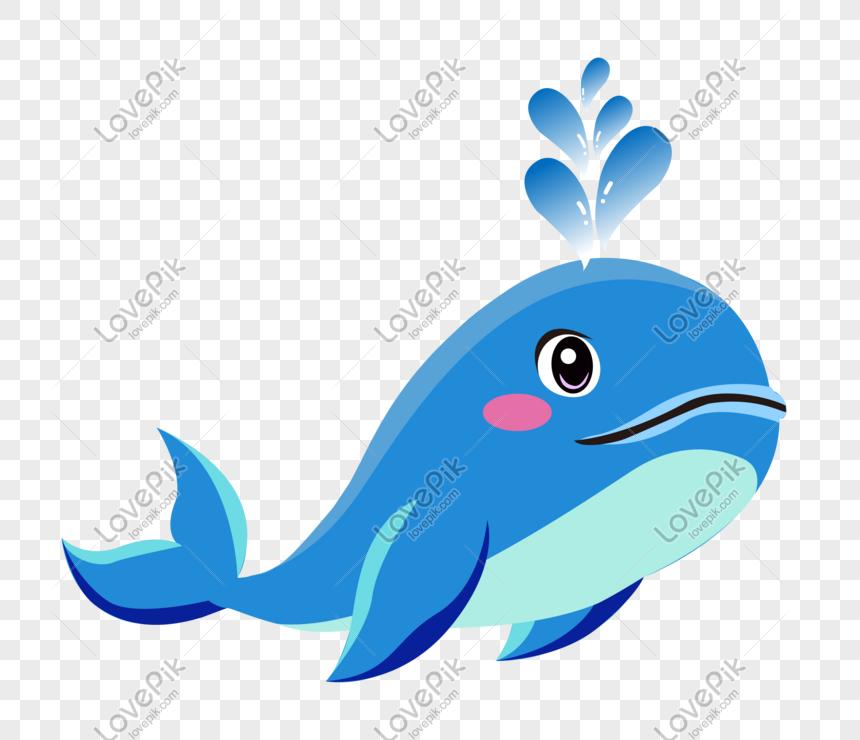 dibujado a mano dibujos animados lindo azul mar animal ballena ...