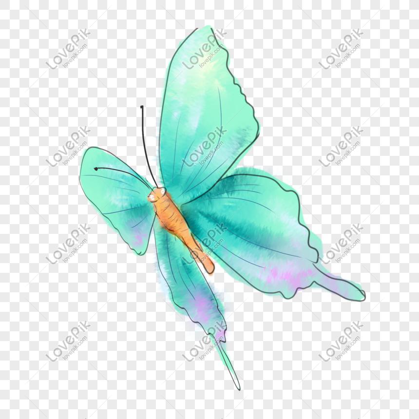 Tangan Dicat Lukisan Air Biru Corak Rama Rama Gambar Unduh Gratis Imej 611437184 Format Psd My Lovepik Com