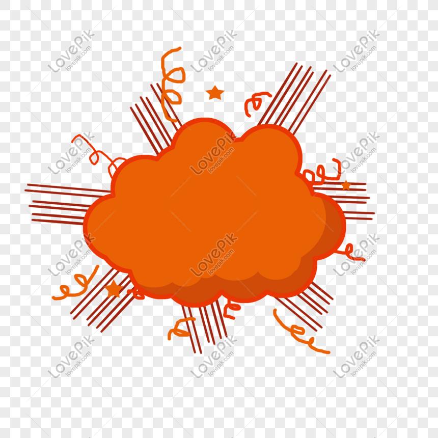 Orange Burst Clip Art