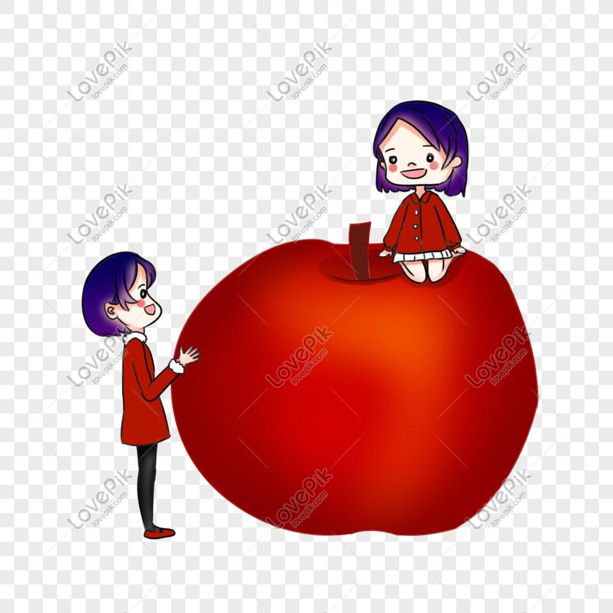 Nochebuena Manzana Roja Nochebuena Dibujado A Mano Dibujos Anima