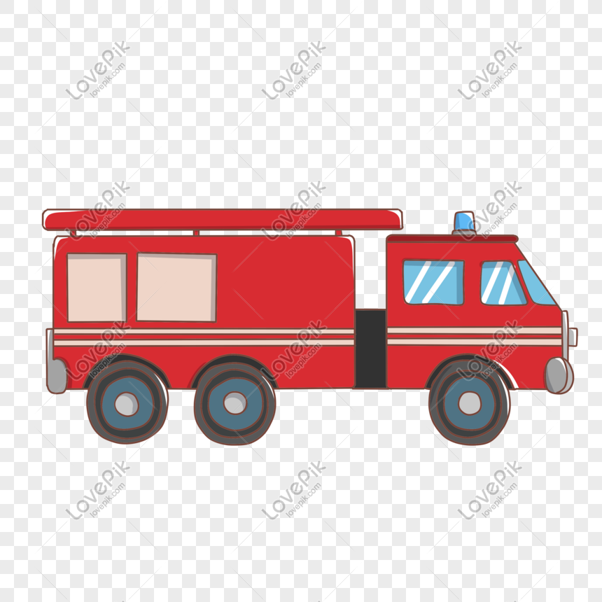 Cartoon Hand Drawn Fire Tool Fire Truck Illustration Png Image Picture Free Download 611437654 Lovepik Com
