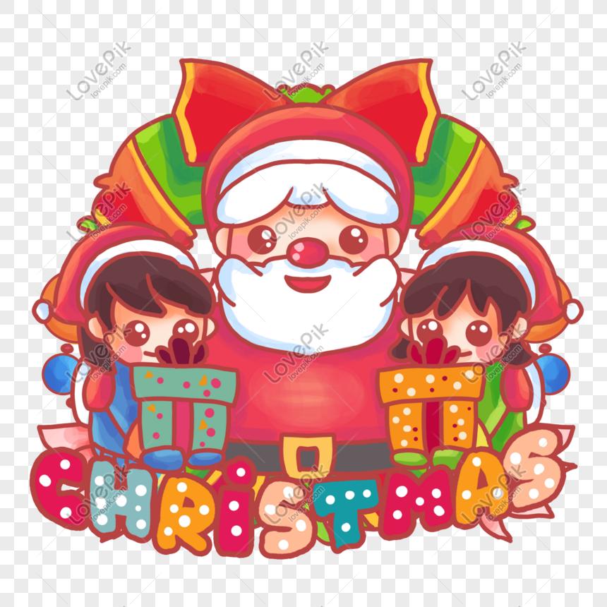 Nochebuena Navidad Dibujos Animados De Hombre Viejo Imagen