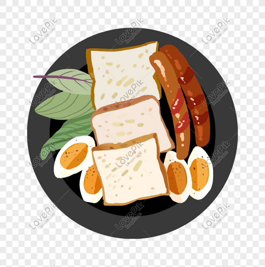Sarapan Makanan Sehat Ilustrasi Angin Datar Gambar Unduh Gratis