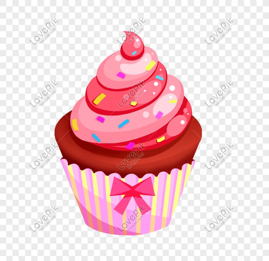 Kue Ulang Tahun Kartun Makanan Penutup Tangan Ditarik Es