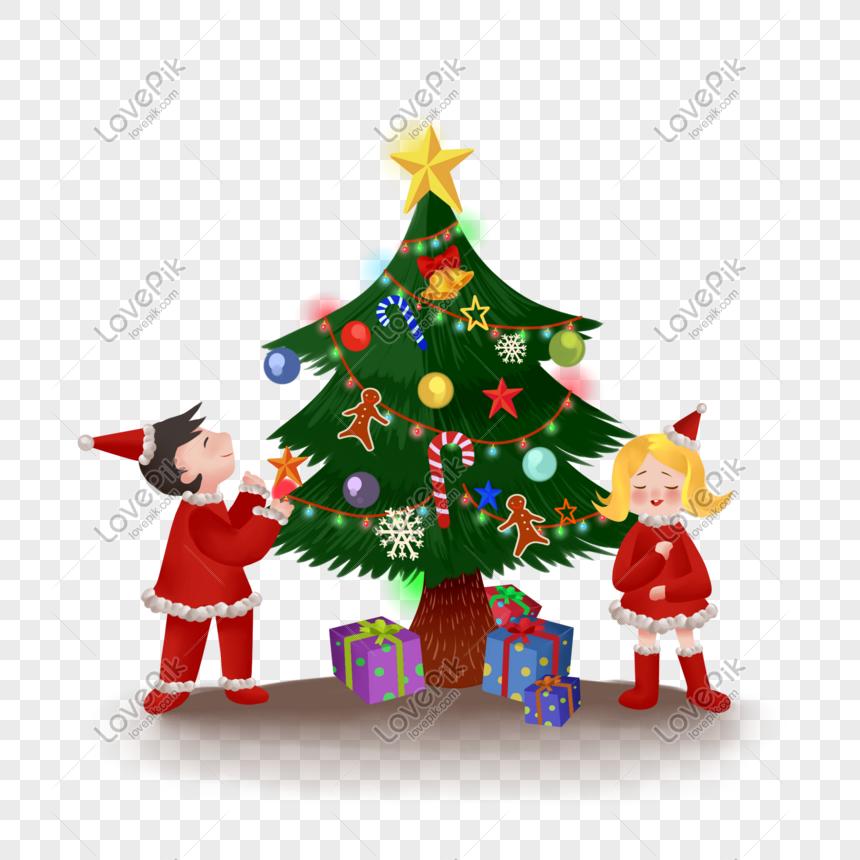 Hand Drawn Cartoon Christmas Tree And Kids Png Image Picture Free Download 611462821 Lovepik Com Cartoon christmas set stock vector. lovepik