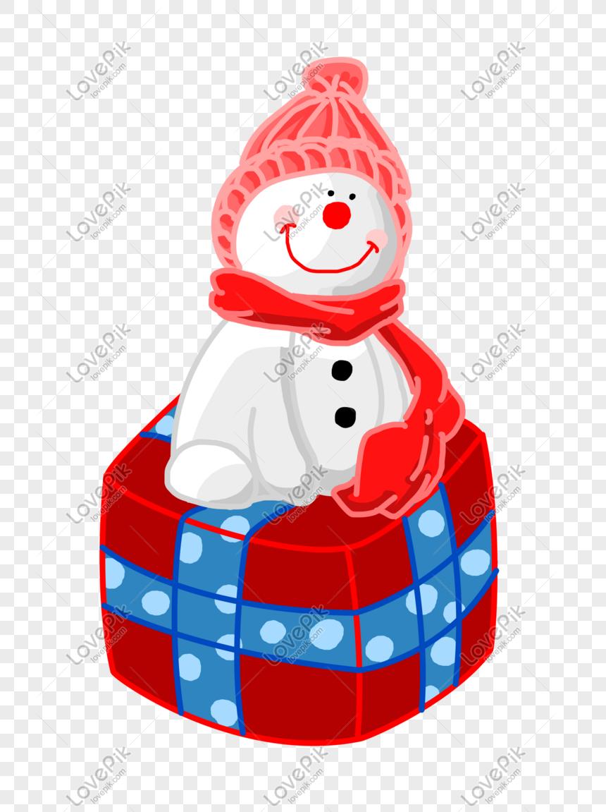 Natal Dos Desenhos Animados Mao Desenhada Boneco De Neve Bonito