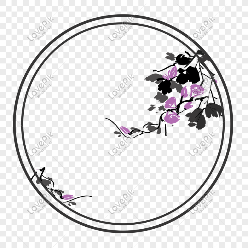 Chinese Style Ancient Style Border Round Morning Glory Floral Bo Png Image Picture Free Download 611465272 Lovepik Com