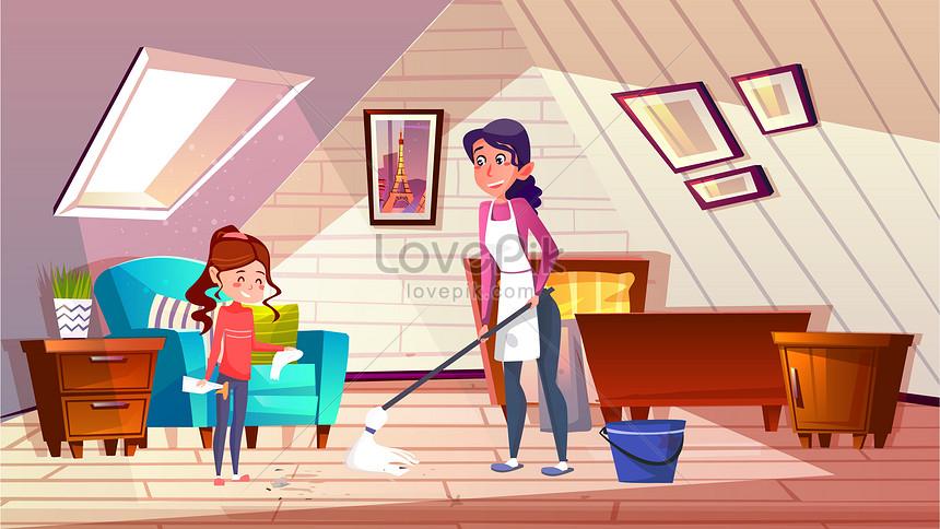 480 Koleksi Gambar Kebersihan Rumah Kartun Terbaik