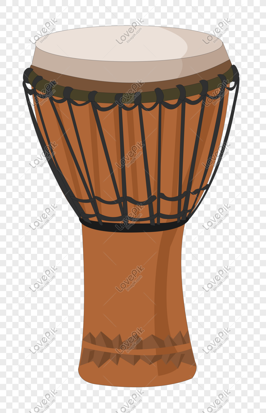 Hand Drawn Music Equipment African Drum Illustration PNG Image ...