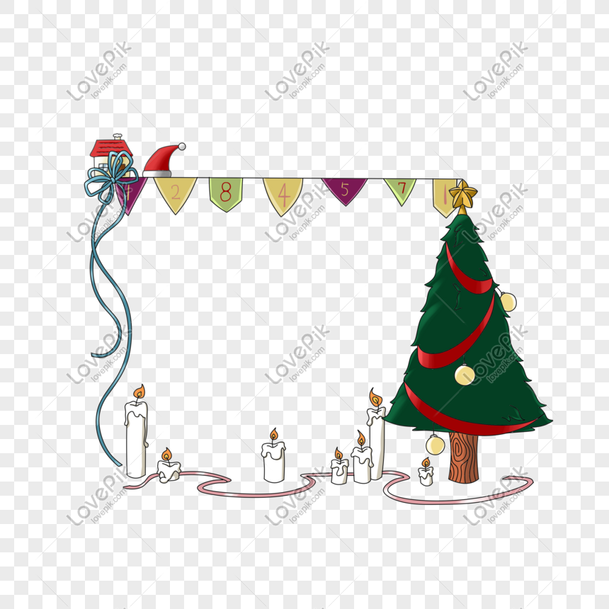 Cartoon Hand Drawn Christmas Hat Decoration Frame Png Image Picture Free Download 611482971 Lovepik Com