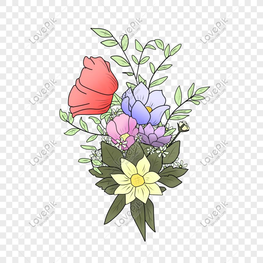 Gambar Ilustrasi Tanaman Bunga Ilustrasi Tanaman Bunga Merah Png Grafik Gambar Unduh Gratis Lovepik