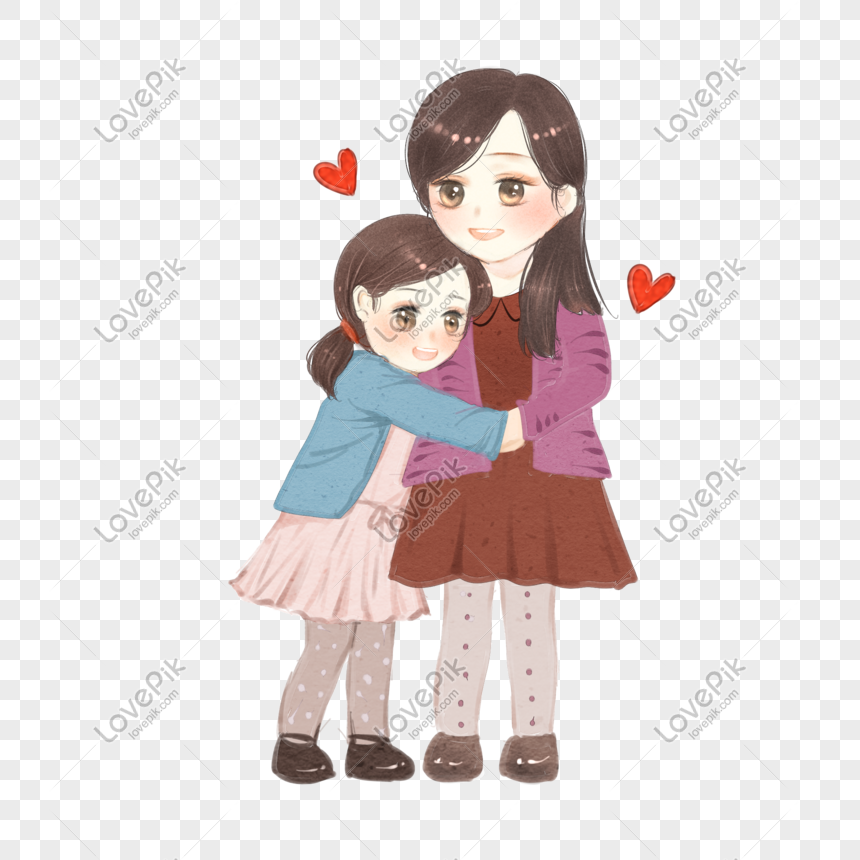 Hand Drawn Thanksgiving Hug Mother Png Image Picture Free Download 611491994 Lovepik Com